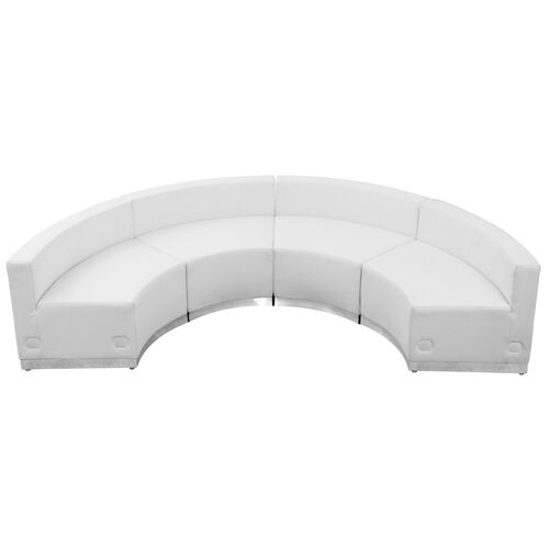 Our HERCULES Alon Series Melrose White LeatherSoft Reception Configuration, 4 Pieces is on sale now.