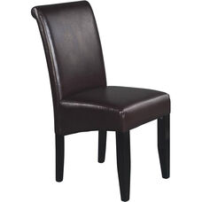OSP Designs Eco Leather Metro Parsons Dining Chair - Espresso