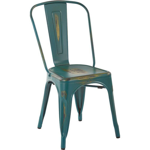 Our OSP Designs Bristow Stackable Armless Metal Chair - Set of 4 - Antique Turquoise is on sale now.