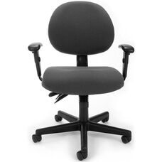 24 Hour Task Chair with Arms - Charcoal