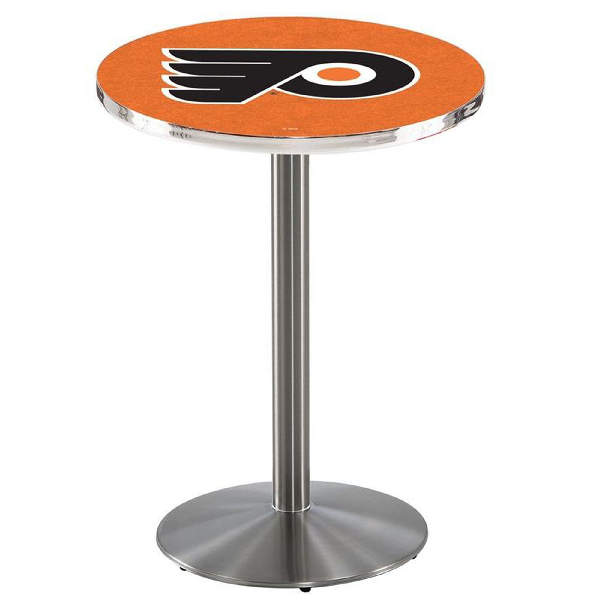 Nhl Stainless Finish Pub Table L214s42phifly O Bizchair Com