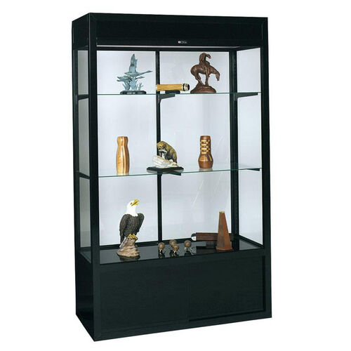 Our 748 Universal Series Aluminum Frame Display Case with Tempered Glass Sliding Doors - 48