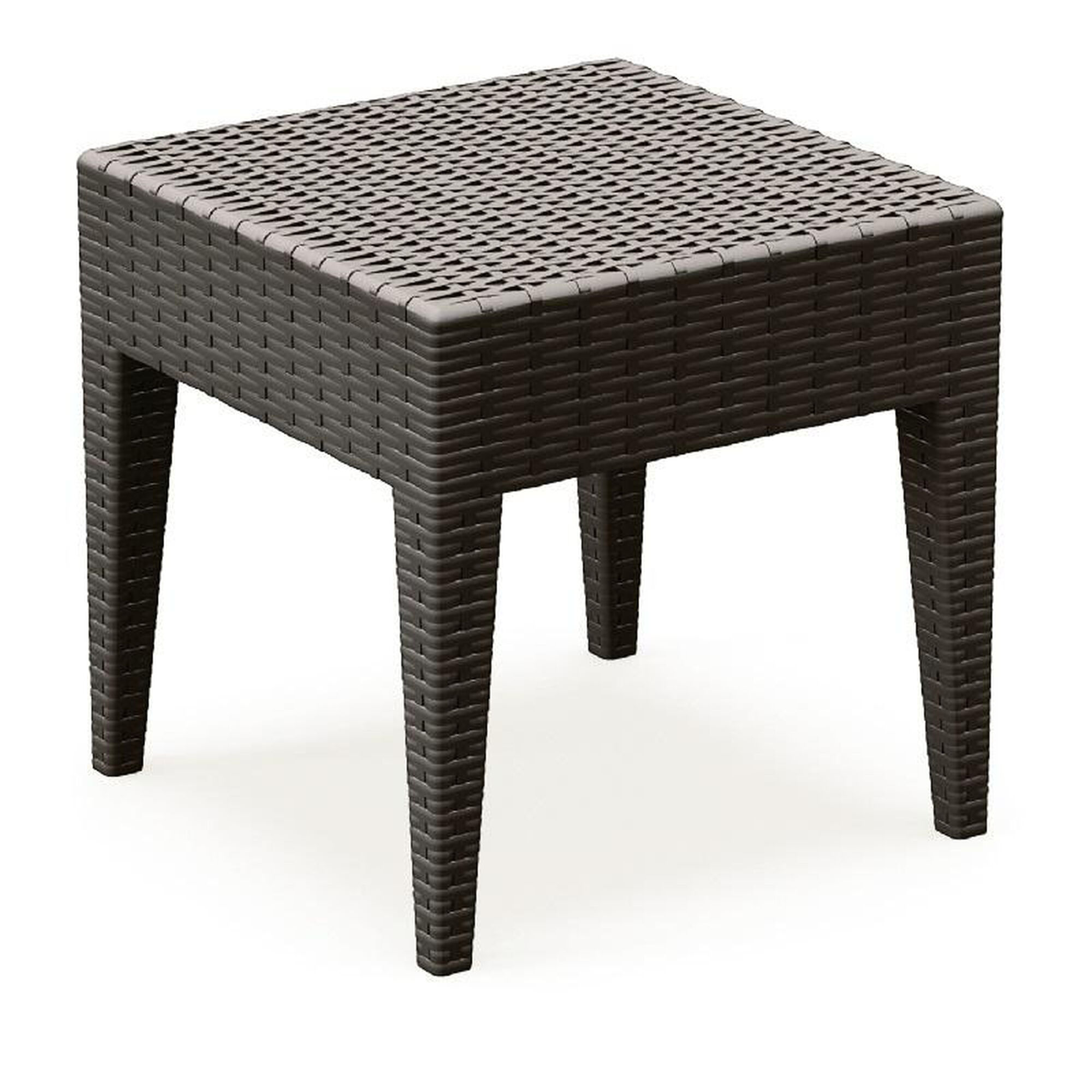 Images our miami outdoor wickerlook resin square side table