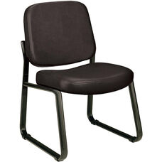 Anti-Microbial and Anti-Bacterial Vinyl Guest and Reception Chair - Black