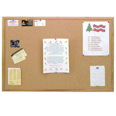 Wood Framed Premium Extra Thick Natural Cork Bulletin Board - 3
