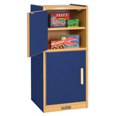 Colorful Essentials Laminate Kitchen Refrigerator Play Station with Four Shelves - Blue