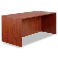 Alera® Valencia Series Straight Front Desk Shell - 65w x 29 1/2d x 29 1/2h - Med Cherry