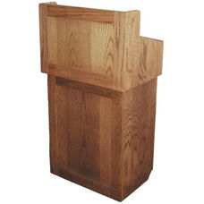 Oxford Two Piece Non-Sound Lectern - Oak Finish - 22