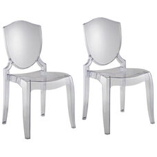 Polycarbonate Crystal Clear Chair-Set Of 2