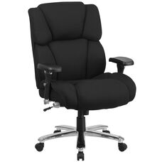 HERCULES Series 24/7 Intensive Use Big & Tall 400 lb. Rated Black Fabric Executive Swivel Chair with Lumbar Knob