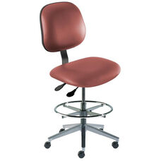 Quick Ship Belize Series Chair with Concave Seat and Wide Aluminum Base - High Seat Height