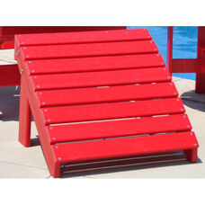 Traditional Recycled Plastic Adirondack Ottoman in Red
