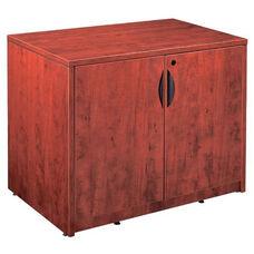 Cherry 2 Door Storage Cabinet with Lock