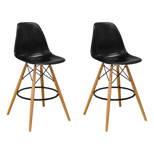 Our Paris Tower Barstool with Wood Legs and Black Seat - Set of 2 is on sale now.