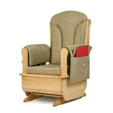 Jonti-Craft Glider Rocker with Khaki Green Cushions
