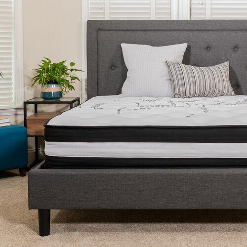 Capri Comfortable Sleep 10 Inch CertiPUR-US Certified Hybrid Pocket Spring Mattress, Queen Mattress in a Box