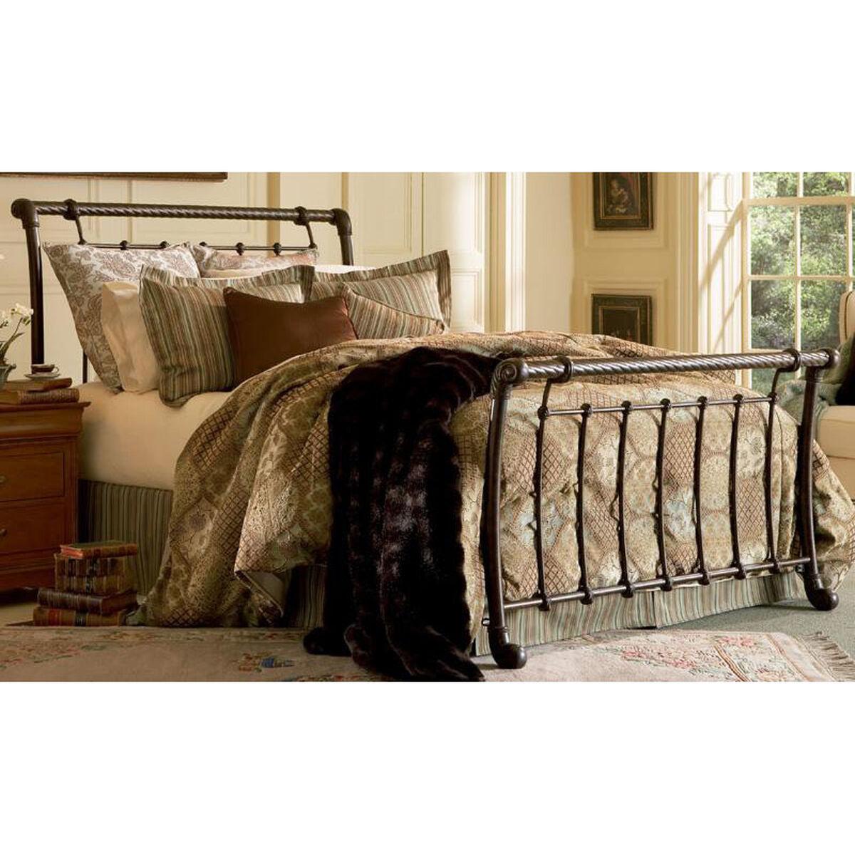 Cal King Imetal Sleigh Bed