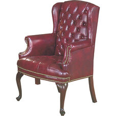 Quick Ship Traditional Series Tufted Wing Back Arm Chair