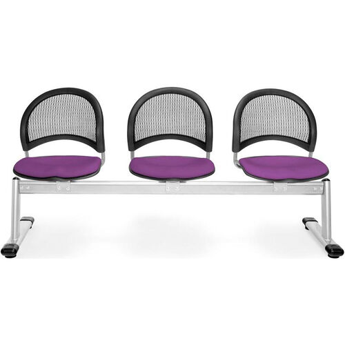 Our Moon 3-Beam Seating with 3 Fabric Seats - Plum is on sale now.