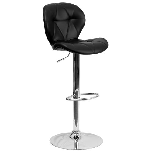 Our Contemporary Black Vinyl Adjustable Height Barstool with Diamond Stitched Back and Chrome Base is on sale now.