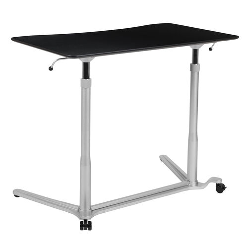 "Our Sit-Down, Stand-Up Black Computer Ergonomic Desk with 37.375""W Top (Adjustable Range 29"" - 40.75"") is on sale now."