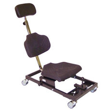 Brio Flexible Polyurethane Cushioned Overhead Workseat with Heavy Duty Steel Base and Self- Braking Casters