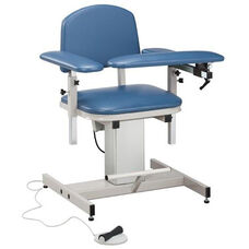 Hands Free Adjustable Power Series Blood Drawing Chair with Padded Arms