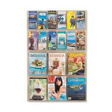 Safco Magazine Pamphlet Display -6 Mag/12 Pamphlet -30
