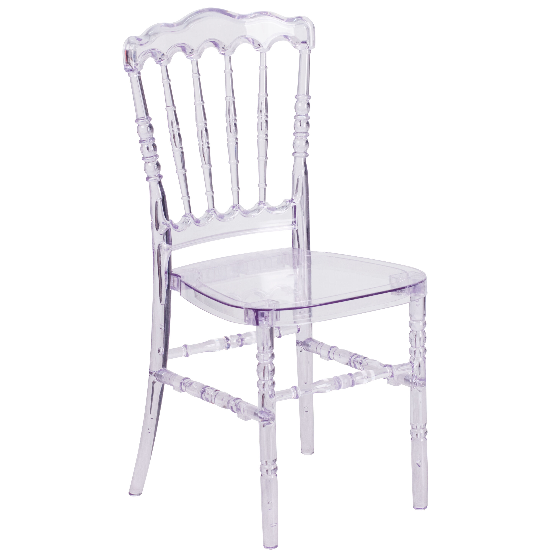 Flash Elegance Crystal Ice Stacking Napoleon Chair