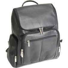 Laptop Backpack - Colombian Vaquetta Leather - Black