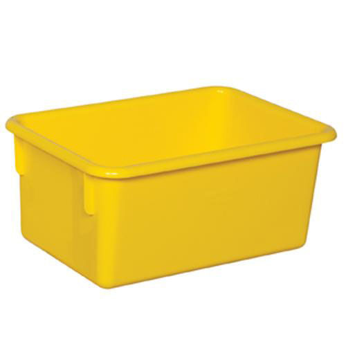 Our Solid Yellow Plastic Cubby Trays - Assembled - 8