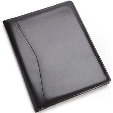 Writing Padfolio Document Organizer - Aristo Bonded Leather - Black