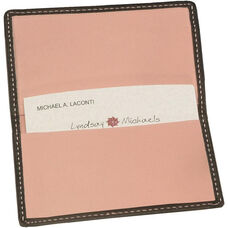 Business Card Case - Top Grain Nappa Leather - Black and Carnation Pink