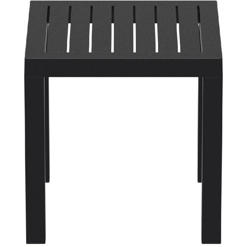 Our Ocean Outdoor Resin Square Side Table - Black is on sale now.
