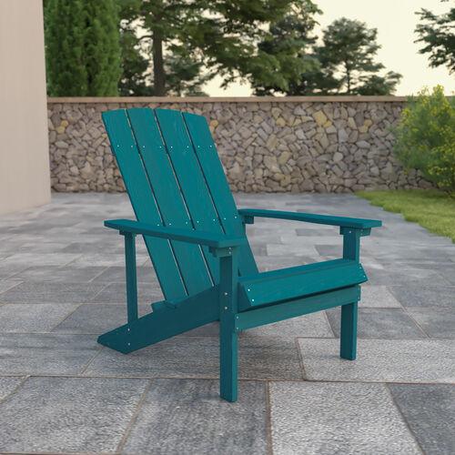 Charlestown All-Weather Poly Resin Wood Adirondack Chair in Sea Foam