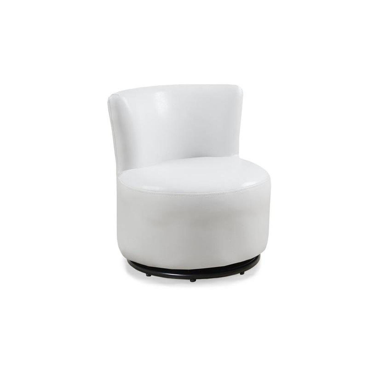 Our Juvenile Faux Leather Swivel Accent Chair White Is On Now