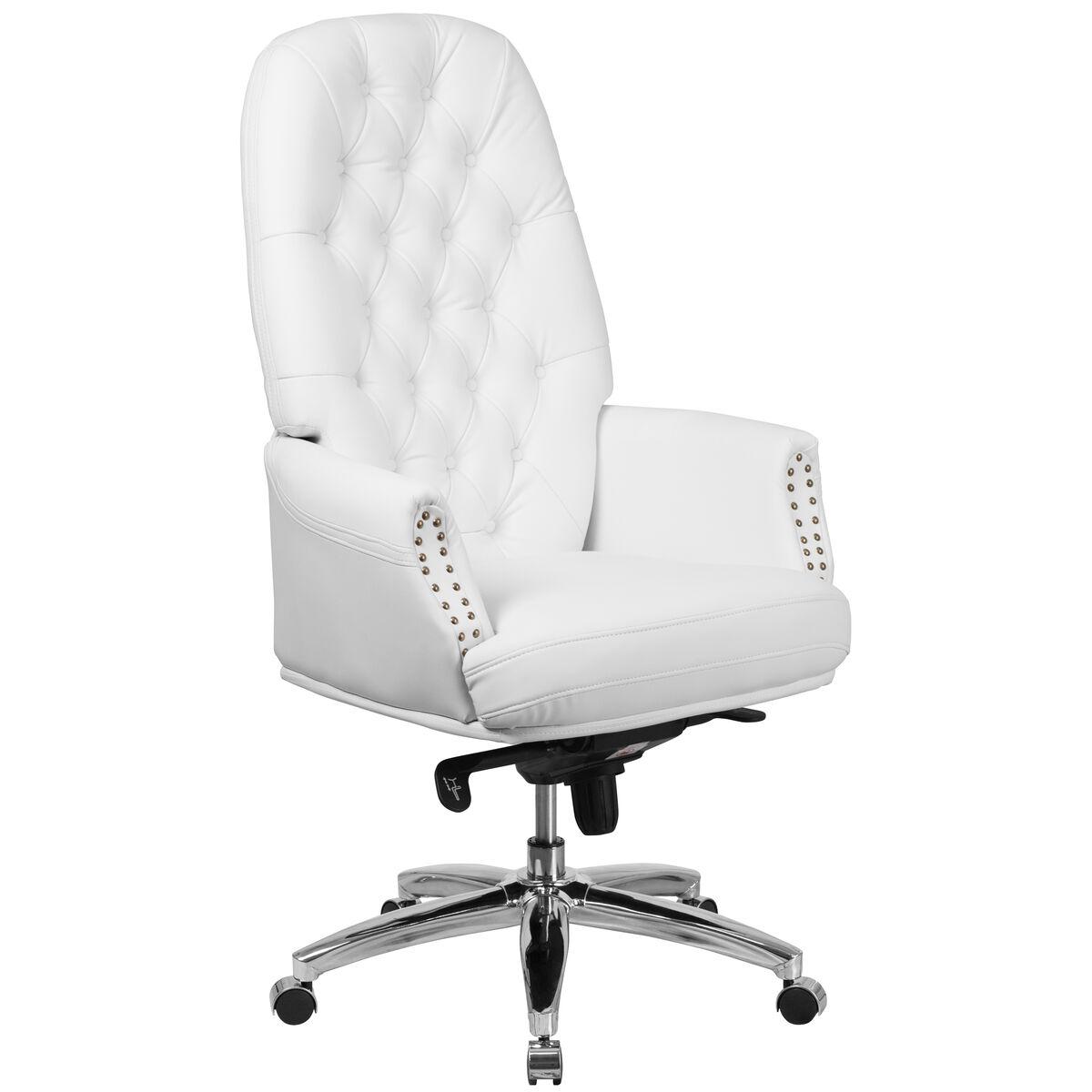 White High Back Leather Chair Bt 90269h Wh Gg Bizchair Com