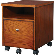 OSP Designs Aurora Mobile File with Casters - Medium Oak