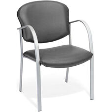 Danbelle Anti-Microbial and Anti-Bacterial Vinyl Contract Reception Chair - Charcoal