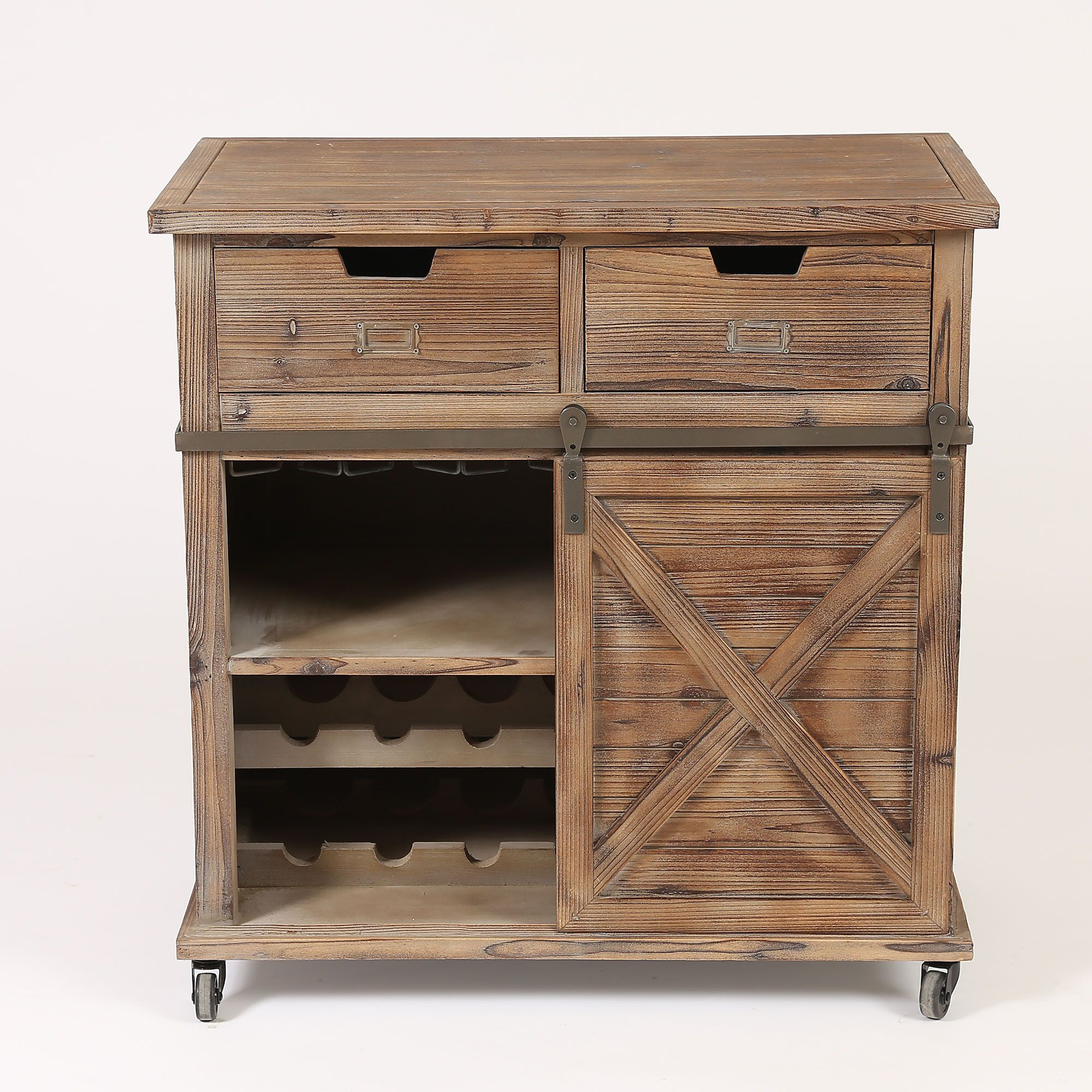 Wood Wine Cabinet With Door Wh181 Bizchair