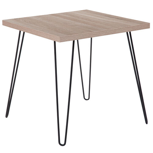 Our Union Square Collection Sonoma Oak Wood Grain Finish End Table with Black Metal Legs is on sale now.