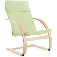 Teachers Rocker with Removable Cushion and Steam-Bent Plywood Construction - Sage Green - 26