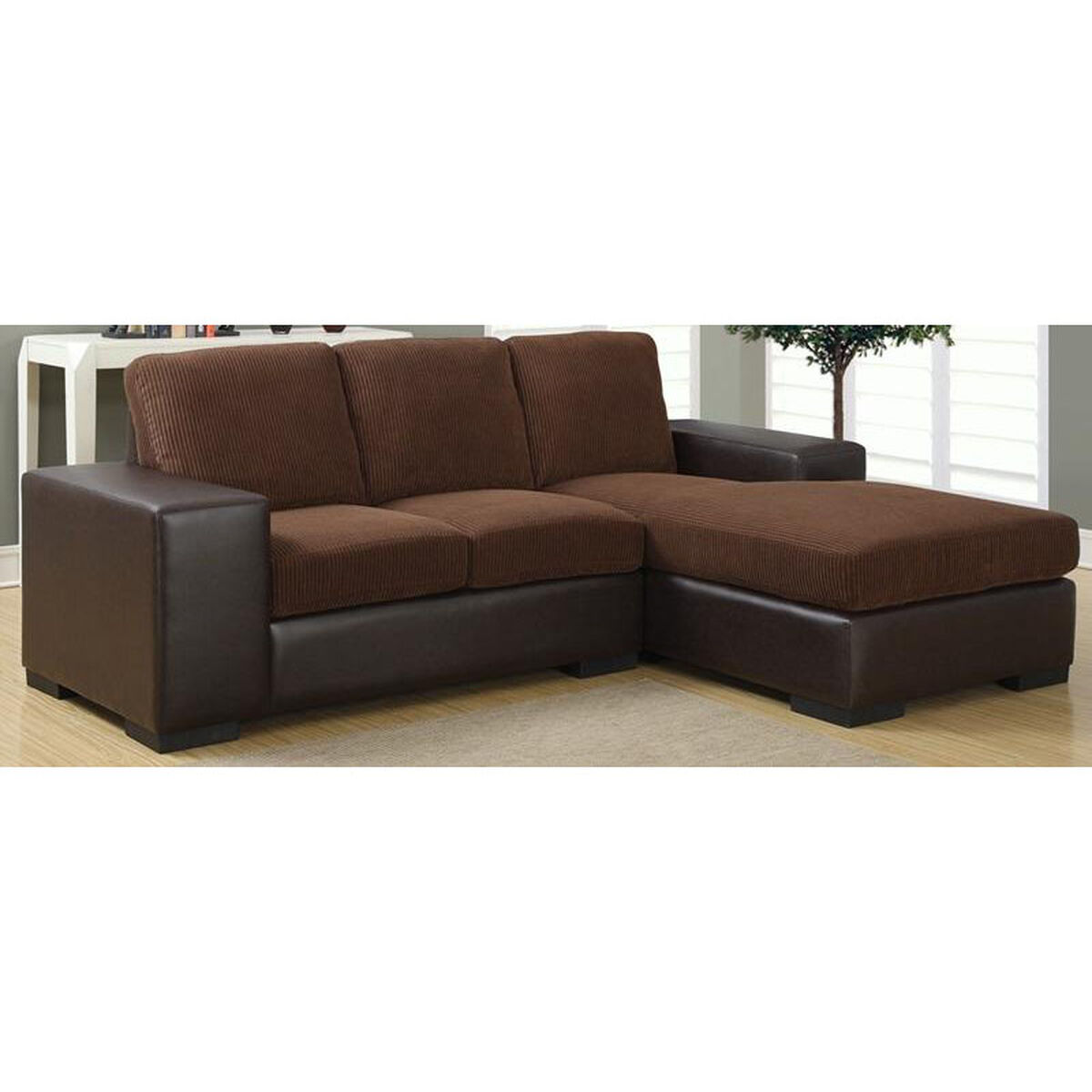 Two Tone Mixed Upholstery Sofa I 8200bb Bizchair Com