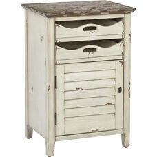 OSP Designs Charlotte Side Table with Storage - Country Cottage