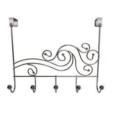 Phoenix Five Hook Over The Door Rack with Metal Ball - Chrome