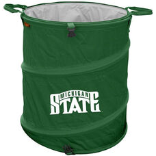 Michigan State University Team Logo Collapsible 3-in-1 Cooler Hamper Wastebasket