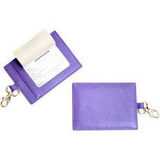 Luxury Big Luggage Tag - Top Grain Nappa Leather - Purple