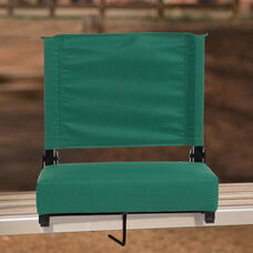 Grandstand Comfort Seats by Flash - 500 lb. Rated Lightweight Stadium Chair with Handle & Ultra-Padded Seat, Hunter Green