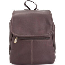 Tablet iPad Travel Backpack - Colombian Vaquetta Leather - Cafe