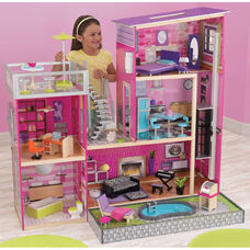 Luxury Uptown Wooden Dollhouse for 12